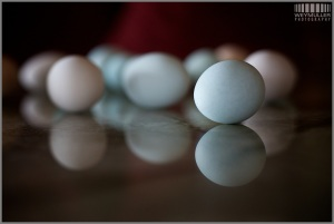 Egg with Blue