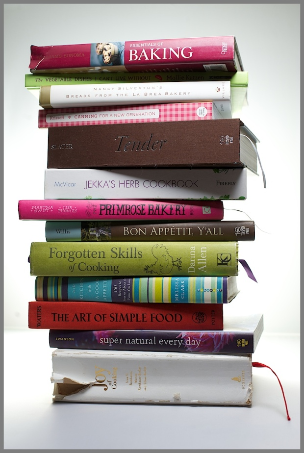 Cookbook photo shoot-cool stack of cookbooks 3