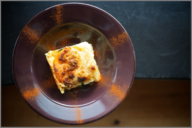 Butternut Squash and Spinach Lasagne top shot 11-12 RKW