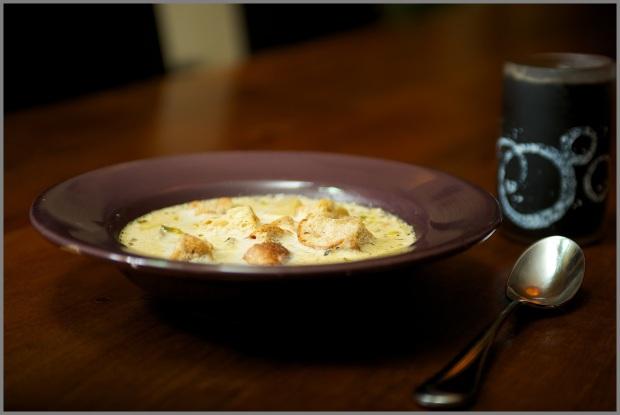 Close Up Potato Leek Soup 2/1/13 WP