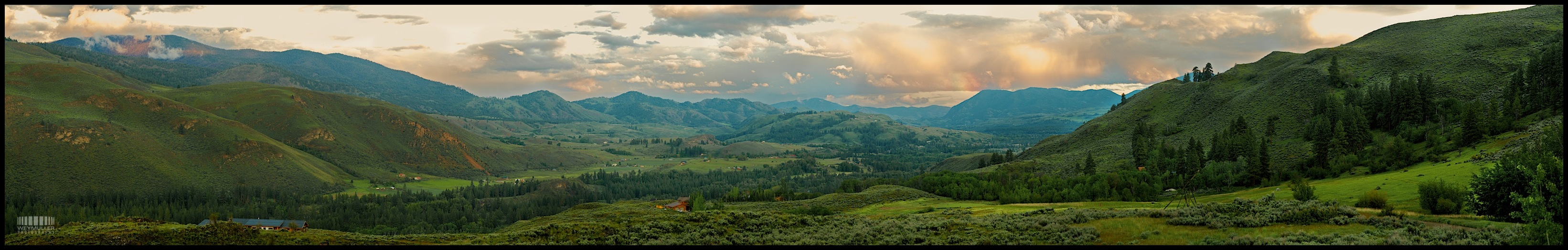 Community Methow Valley in the Spring Lush Green Fields