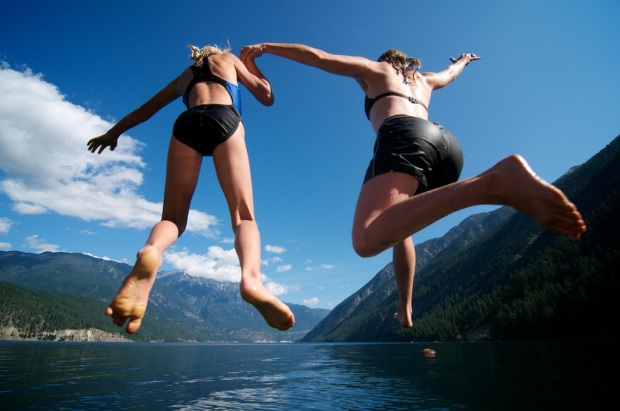Jumping Into The Cool BC Lakes
