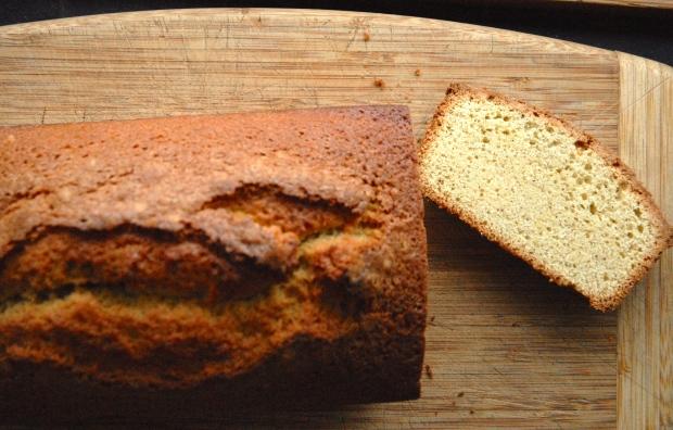 Loaf Weekend Cake on Cutting Board