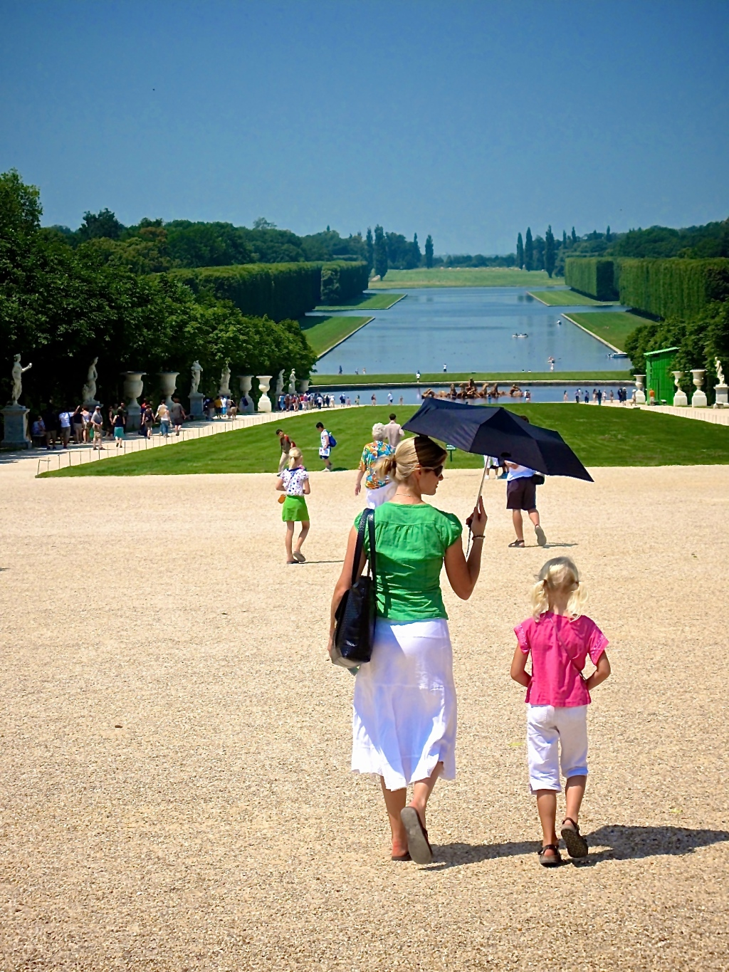 Mother and daughter strolling the Green Carpet- Versailles
